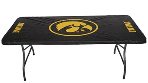 Iowa Hawkeyes Fitted Tailgate Table Cover