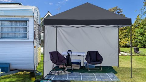 ABCCanopy Outddor Canopy Tent With Sun Wall