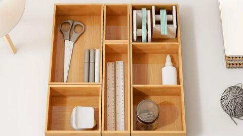 Dylan Bamboo 5-Piece Drawer Organizer Set
