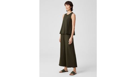 Organic Cotton French Terry Wide Leg Pant