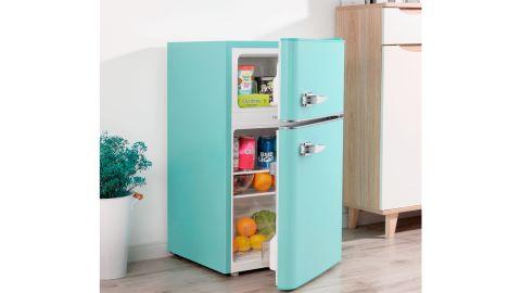 Insigne rétro 3,1 cu.  NS.  Petit réfrigérateur avec congélateur supérieur.