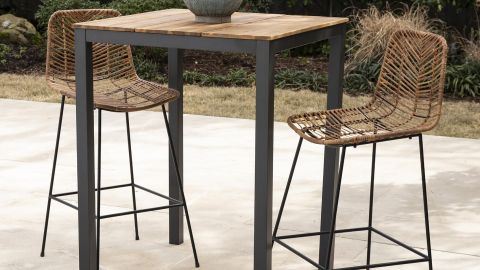 World Market All-Weather Wicker Naveen Outdoor Counter Stools, Set of 2