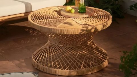 Urban Outfitters Seville Modern Rattan Coffee Table