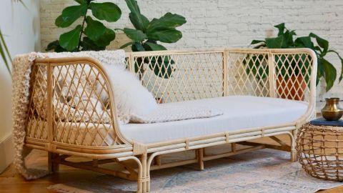 PicnicImports Esme Crisscross Rattan Sofa