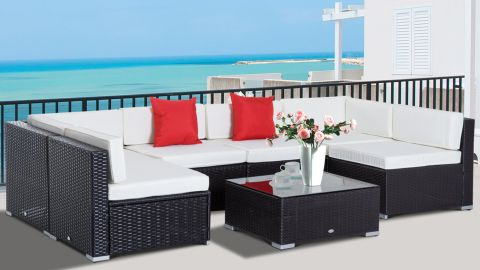 Sol 72 Outdoor Merton Wicker/Rattan 6-Person Seating Group With Cushions