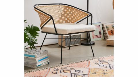 Urban Outfitters Carole Rattan and Metal Chair
