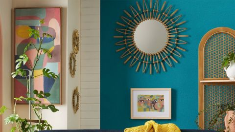 Opalhouse Designed With Jungalow Dia Rattan Mirror with Cotton Cord