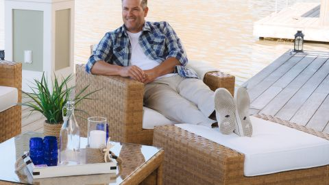 Sunhaven Seabrook 4-Piece Outdoor Club Chair Conversation Set