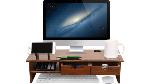 Sundale Monitor Stand With Storage Drawers