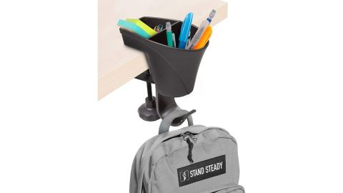 Stand Steady 3-in-1 Clamp-On Desk Organizer