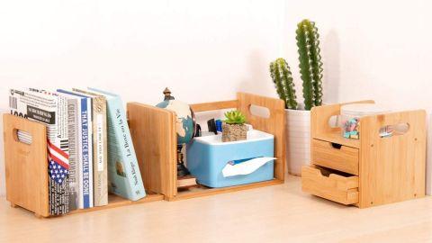 Ollieroo Desk Organizer With Extendable Storage