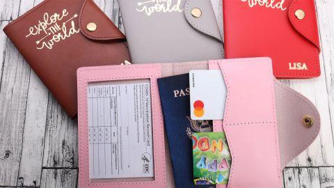 EvtodiCom Passport Holder Personalized With CDC Holder