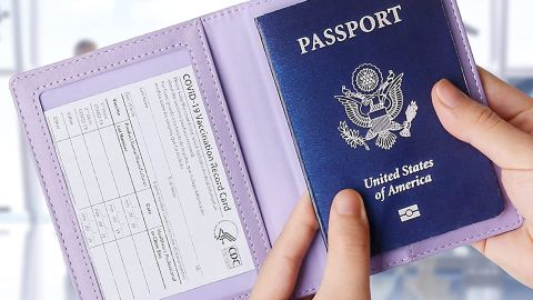 Tigari Passport and Vaccine Card Holder Combo