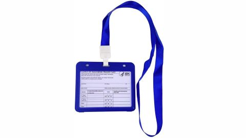 Sokurdeg CDC Covid Vaccination Card Protector With Lanyard