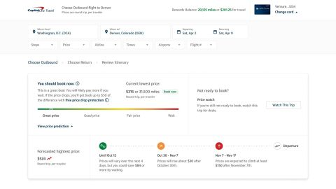 A look at Capital One Travel's flight price prediction technology.