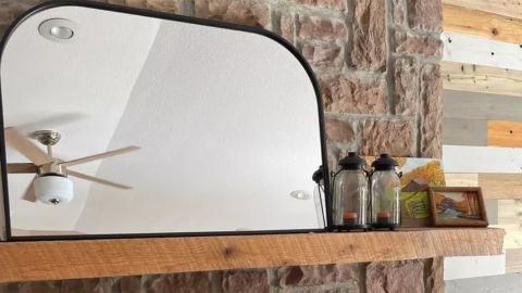 Project 62 Over the Mantel Mirror Natural MDF Back
