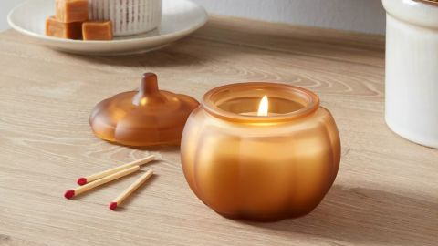 Threshold Mini Pumpkin Caramel Latte Honey Orange Candle
