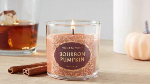 Opalhouse Lidded Glass Jar Bourbon Pumpkin Candle