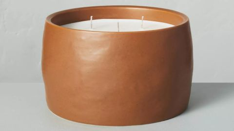 Hearth & Hand With Magnolia Harvest Spice 5-Wick Speckled Ceramic Fall Candle