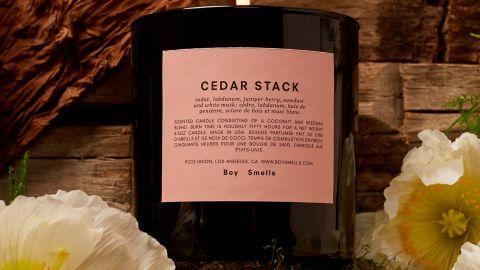 Boy Smells Cedar Stack Scented Candle