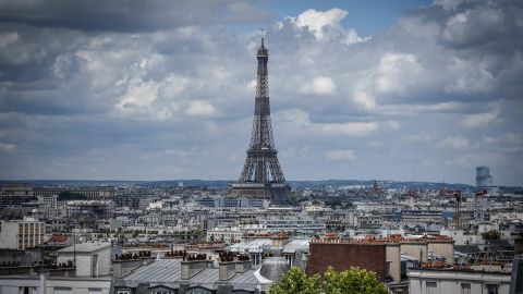 A picture taken on June 15, 2020 shows a view of the Eiffel Tower in Paris. (Photo by STEPHANE DE SAKUTIN / AFP) (Photo by STEPHANE DE SAKUTIN/AFP via Getty Images)