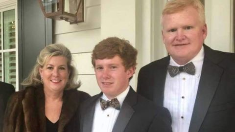 Pictures of Alex Murdaugh and his family. From left to right: Maggie, Paul, and Alex