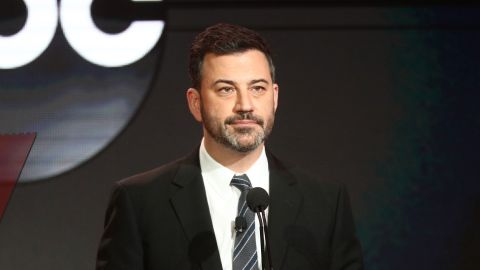 PASADENA, CALIFORNIA - FEBRUARY 05: Jimmy Kimmel speaks during the ABC segment of the 2019 Winter Television Critics Association Press Tour at The Langham Huntington, Pasadena on February 05, 2019 in Pasadena, California. (Photo by Frederick M. Brown/Getty Images)