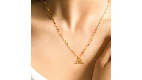 Fortune & Frame Letter Necklace