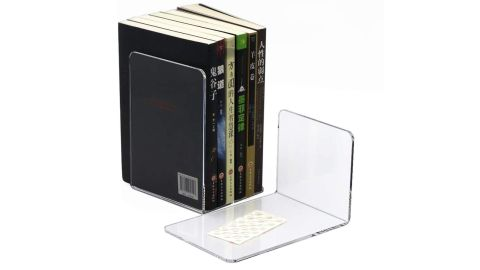 Crystal Clear Acrylic Bookends