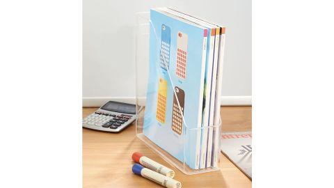 mDesign Clear Plastic Magazine Holder