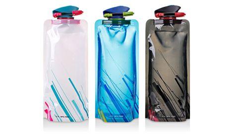 Maxin Flexible Collapsible Reusable Water Bottles