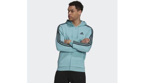 Essentials Fleece 3-Stripes Full-Zip Hoodie