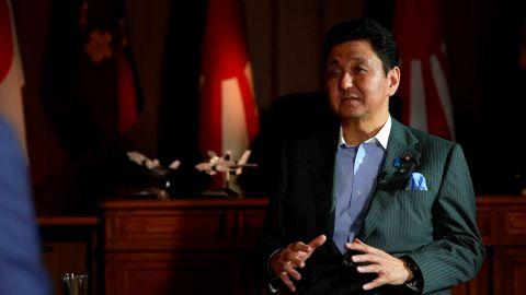 Japanese Defense Minister Nobuo Kishi
