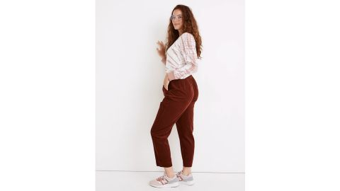 Curvy Tapered Huston Pull-On Crop Pants in Corduroy