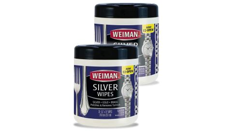 Weiman Jewelry Polish Cleaner and Tarnish Remover Wipes