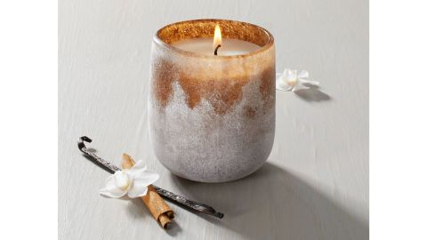 Hearth & Hand with Magnolia Harvest Spice Textured Glass Seasonal Candle