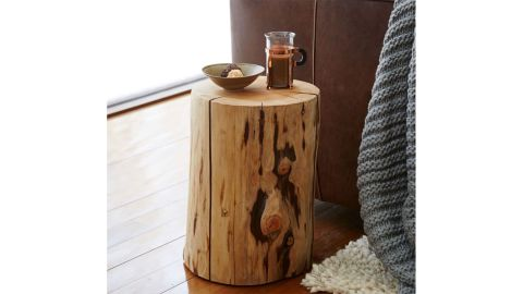 Natural Tree-Stump Side Table