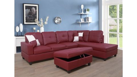"""Maumee 103.5"""" Sectional with Ottoman"""