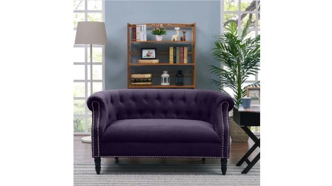 Rolled Arm Chesterfield Loveseat
