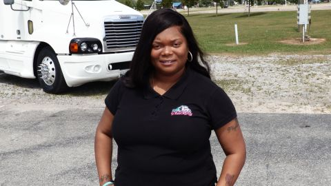 Sharae Moore's company, S.H.E. Trucking, trains and encourages women in the trucking industry.