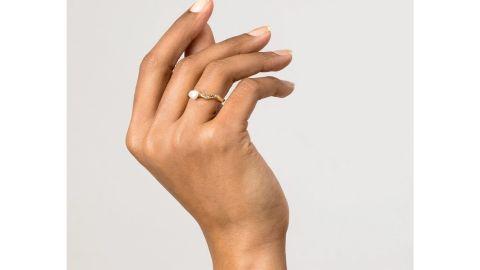 Aurate Venus Organic Pearl Gold Ring