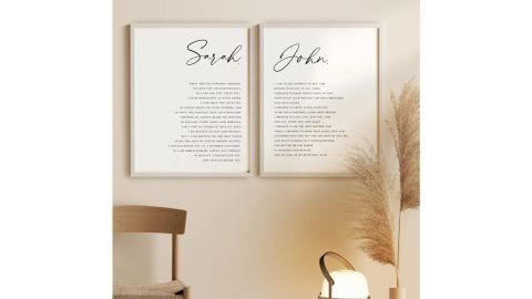 Filterity Wedding Vows Printable Wall Art
