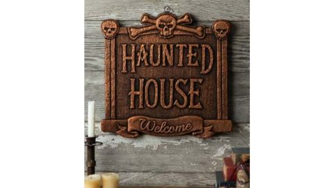 13-Inch Haunted House Welcome Sign Decoration