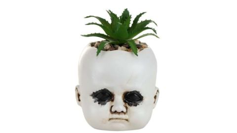 Distressed Doll Succulent Plant Holder