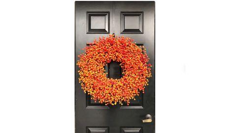 ElegantWreath Orange Weatherproof Berry Wreath