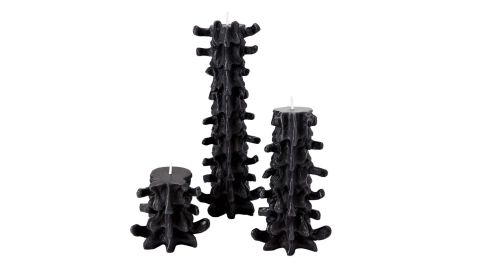 Gothic Spine Candle, 3 Pack