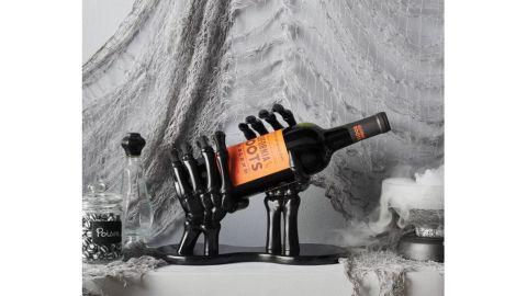 Hyde & EEK! Boutique Wine Bottle High Gloss Halloween Resin Holder