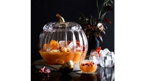 Pumpkin Punch Bowl and Punch Cups, Set of 6