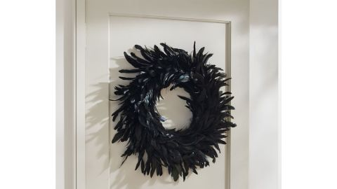 West Elm Spooky Feathers Wreath