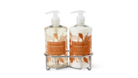 Williams Sonoma Pumpkin Spice Hand Soap & Lotion 3-Piece Set.
